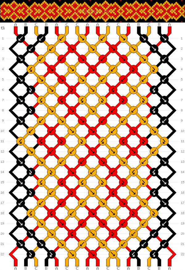 Схема фенечки 34974
