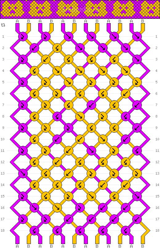 Схема фенечки 34978