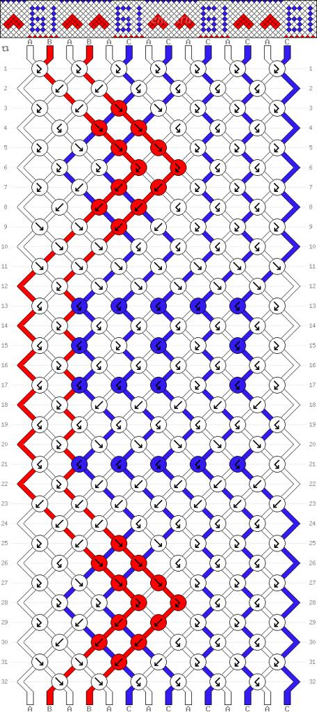 Схема фенечки 35006