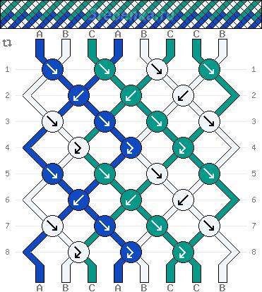 Схема фенечки 35010