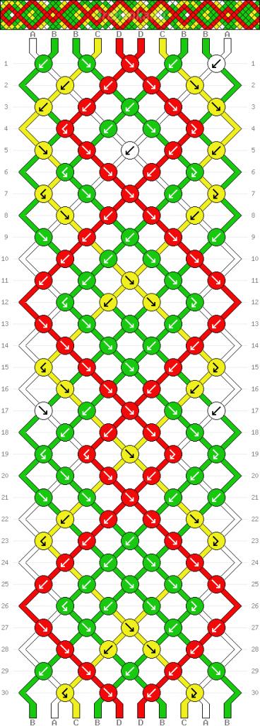 Схема фенечки 35078