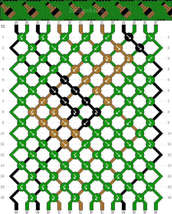 Схема фенечки 35127